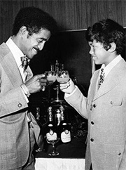 Sammy Davis, Jr. and his son, Mark Davis.