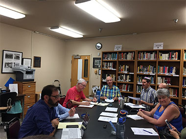 2018-08-08 Temple Sinai meeting in the Library.