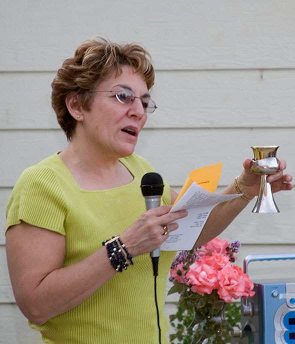 Rabbi Emerita Myra Soifer and Kiddush Cup