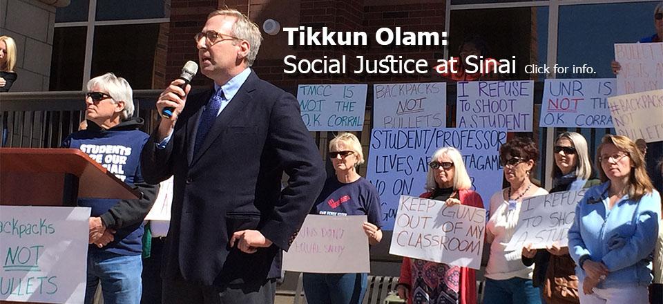 Tikkun Olam: Social Justice at Sinai