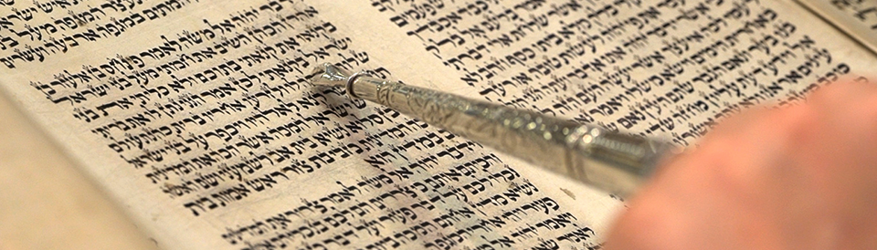 Torah Scroll with Yad