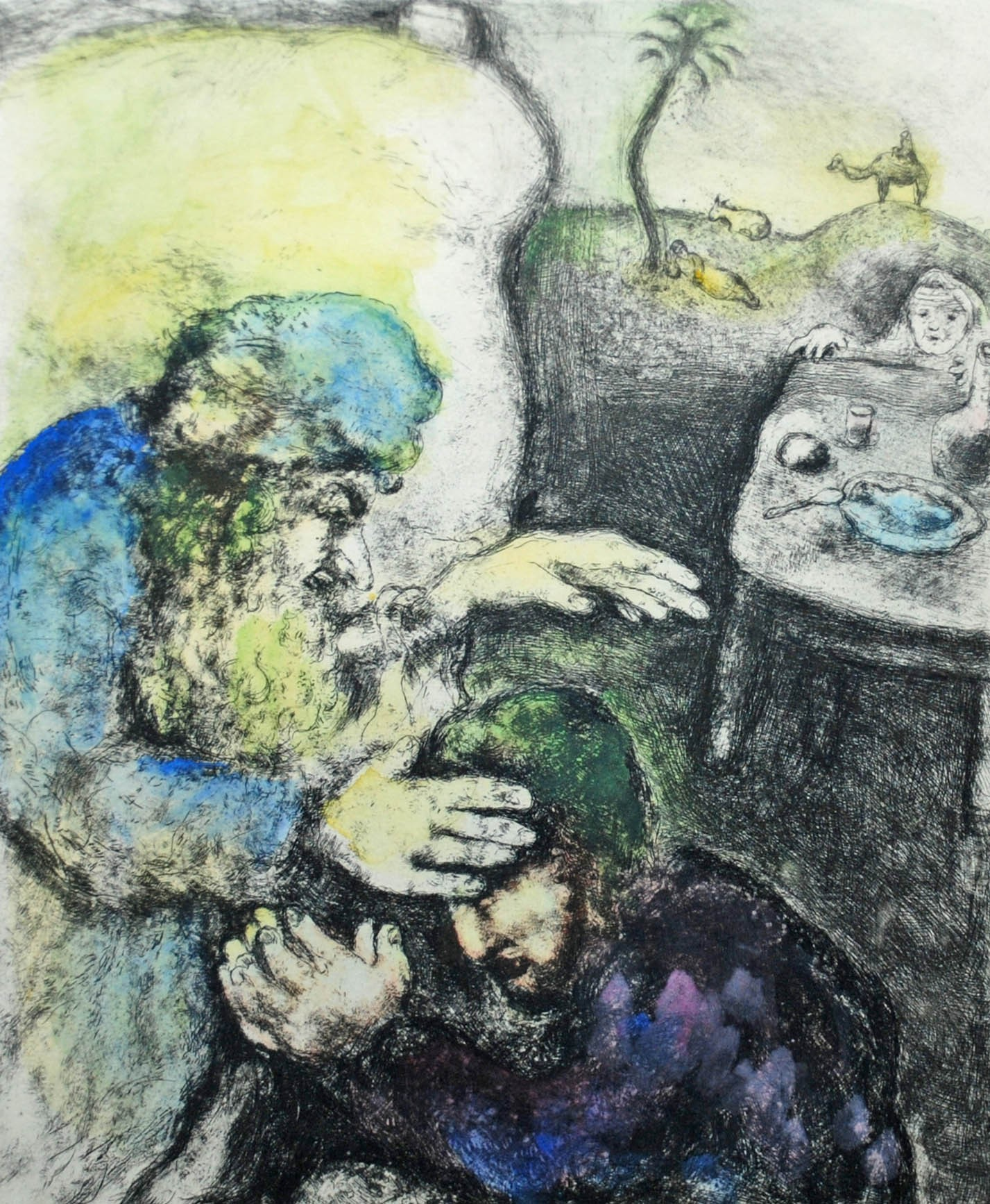 Isaac Blesses Jacob (Marc Chagall)